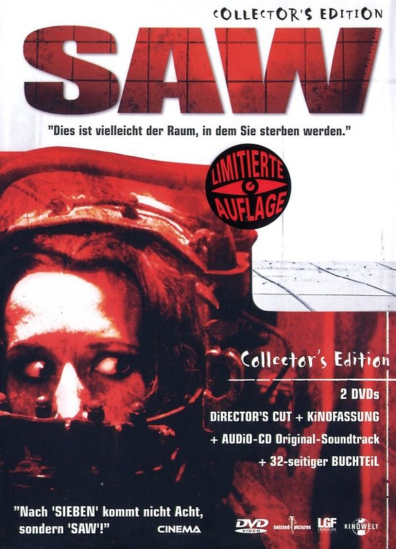 Saw  [CE] [2 DVDs]  (+ CD-Soundtrack/+ Buch) DVD Bild