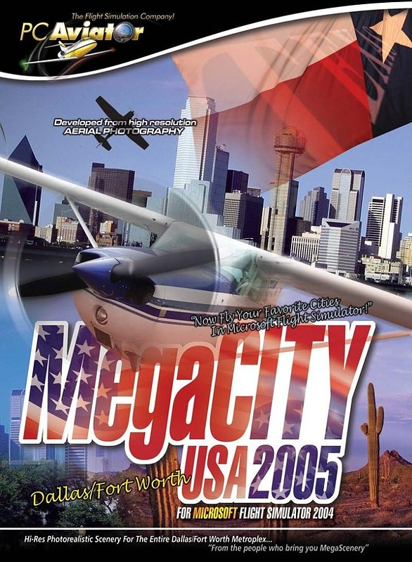 Flight Simulator 2004 - MegaCITY Dallas PC Bild
