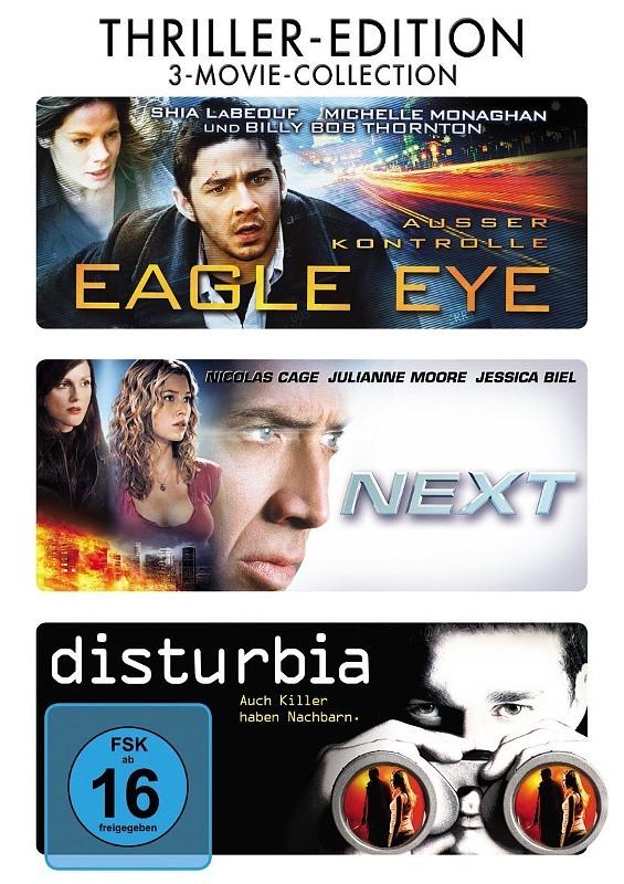Thriller Edition - Eagle Eye + Next + Disturbia DVD Bild