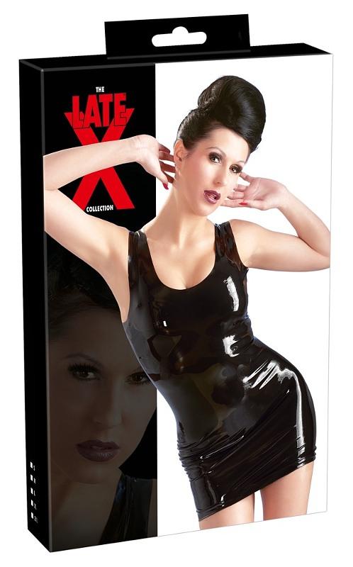 Latex Mini-Kleid schwarz  Bild