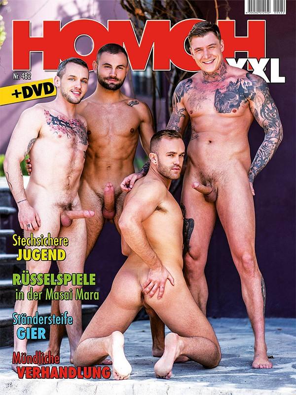 Homoh XXL 482 + DVD Gay Buch / Magazin Bild