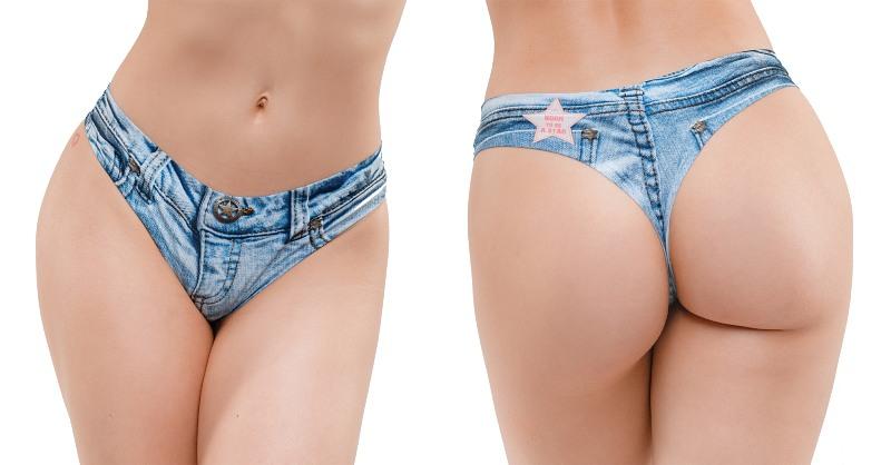 Memème Jeans Light Thong S  Bild